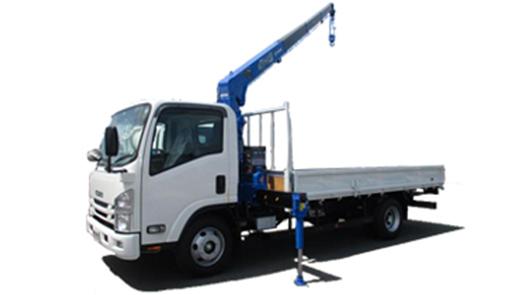 (平ボディ)(6MT)4段クレーン付 ワイド超ロング 2,000kg