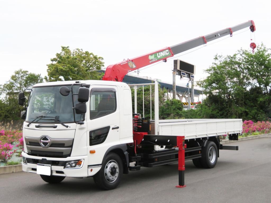 日野 レンジャー(6MT)  4段クレーン付 積載7,700kg(増トン)