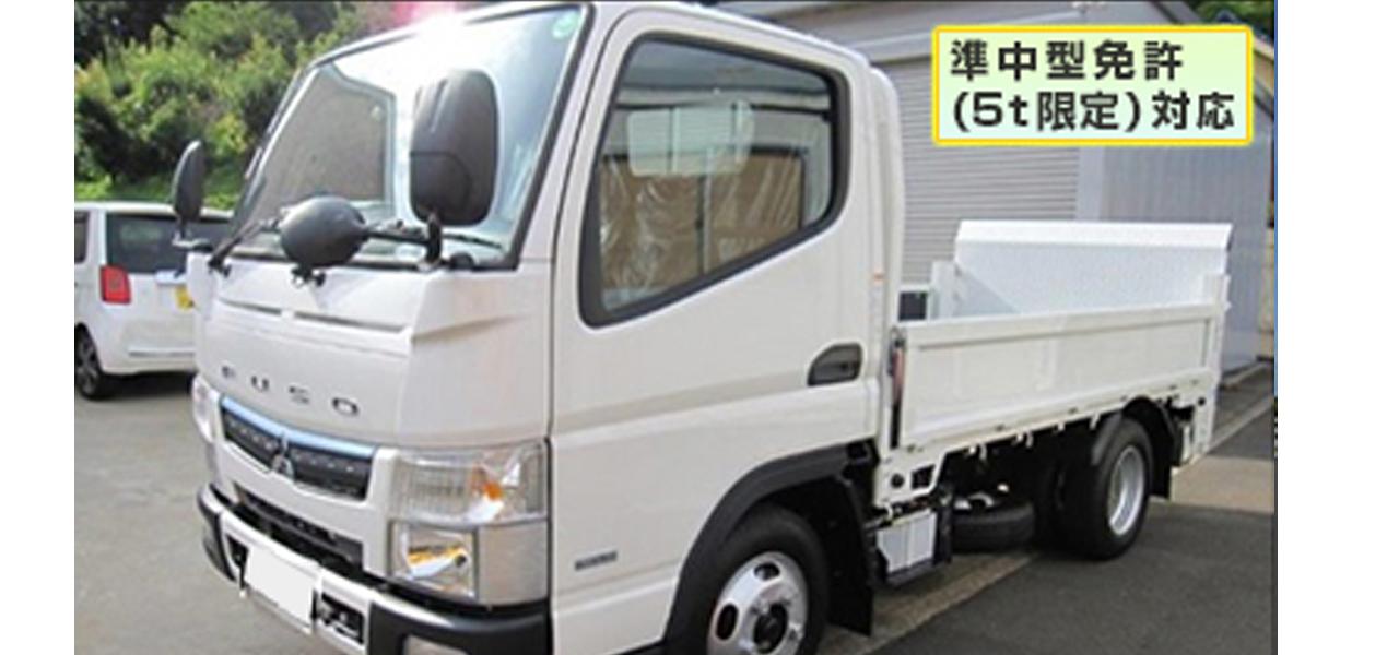 三菱ふそう キャンター(5MT) 平ボディ 垂直ゲート付 積載2,000kg