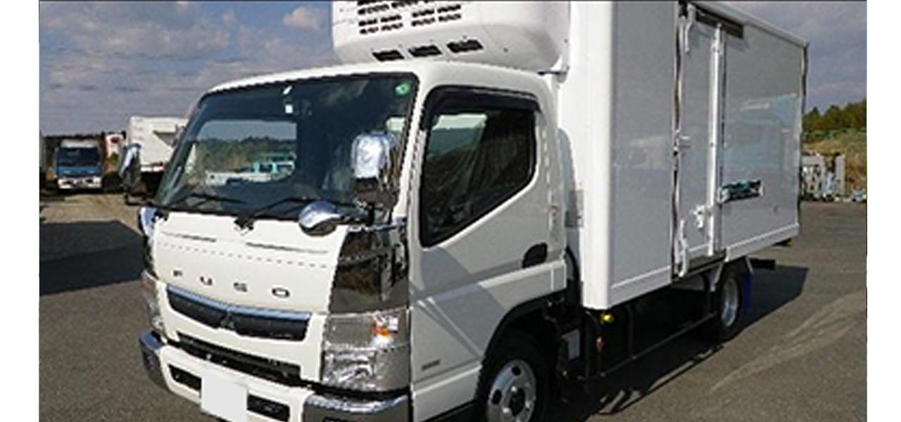 三菱ふそう キャンター(5MT)保温冷凍車 ワイドロング 3,000kg