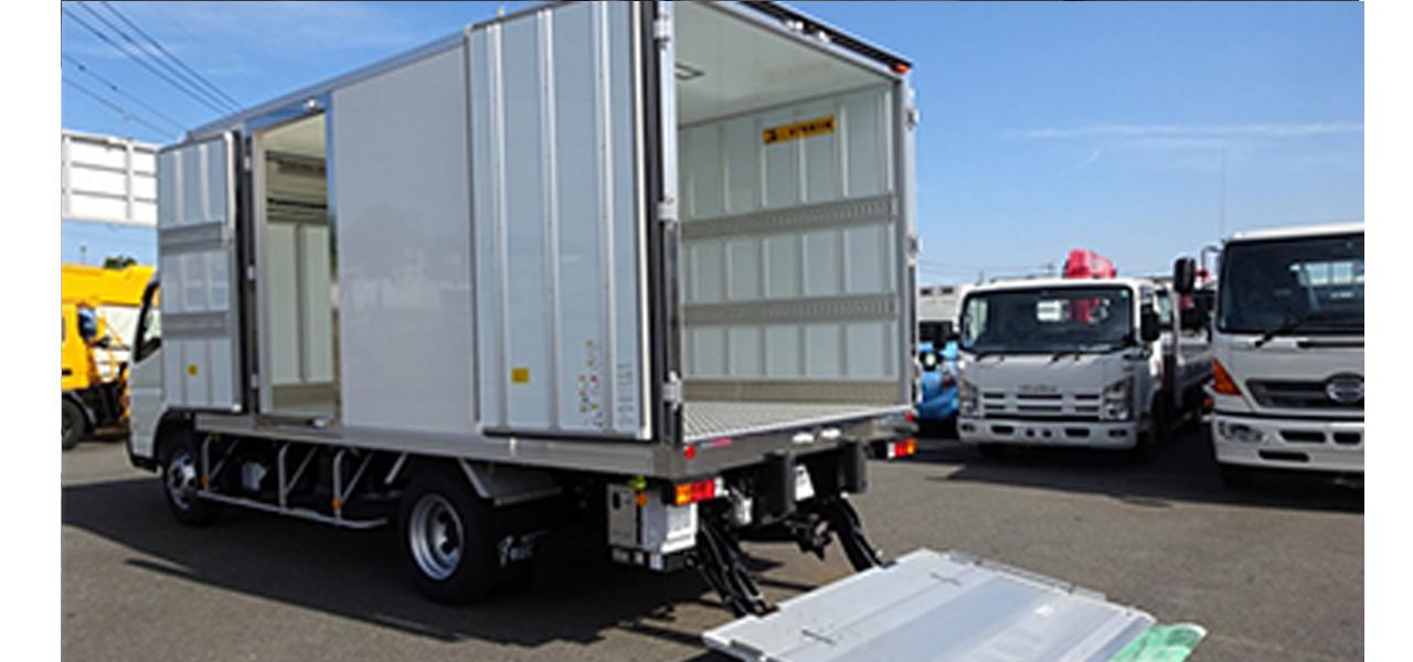 三菱ふそう キャンター(6MT)保温冷凍車 ワイドロング パワーゲート付 2,000kg