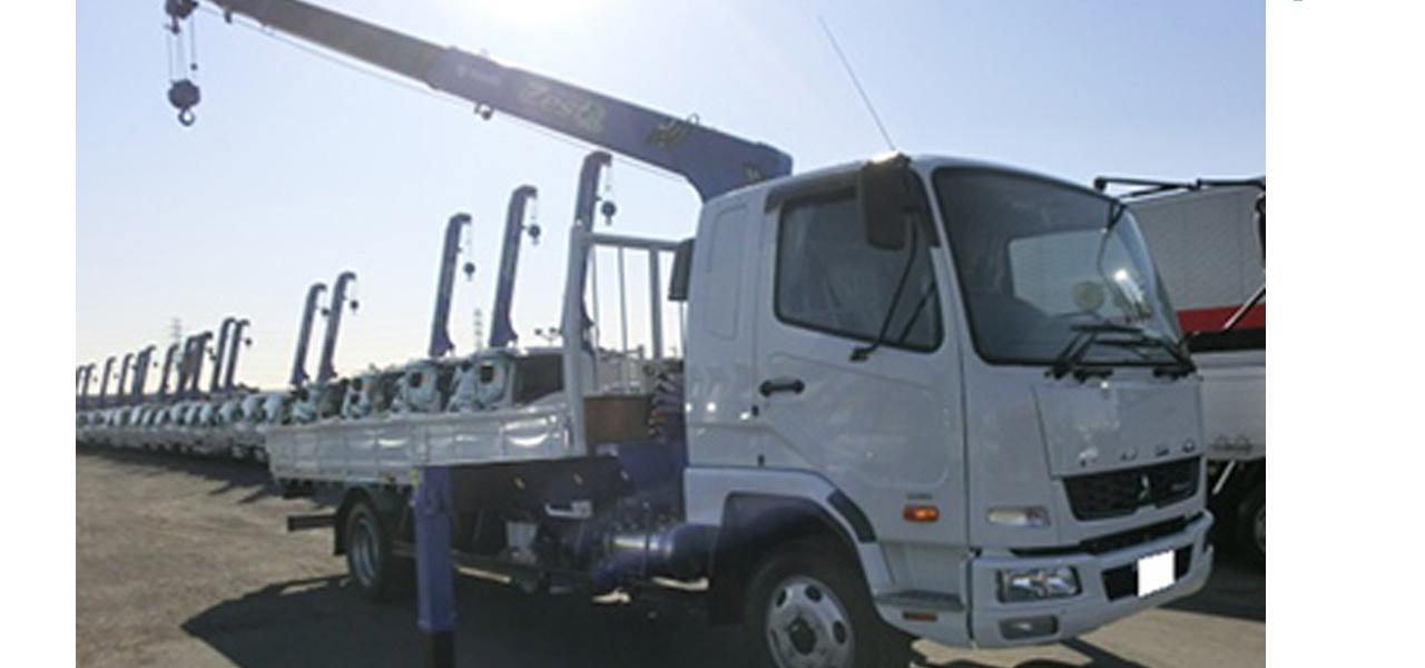 三菱ふそう ファイター(6MT) 平ボディー 4段クレーン付き 4㌧ ディーゼル