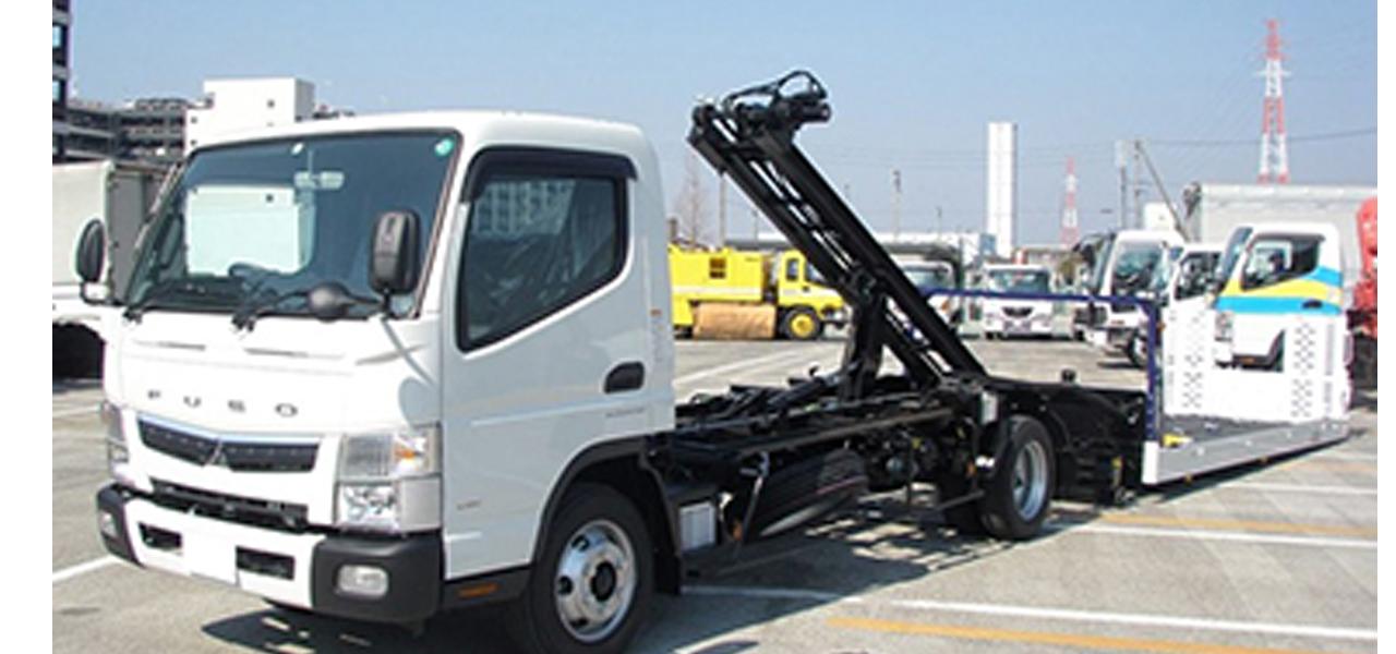 三菱ふそう キャンター 積載車 ワイド超ロング 極東フラトップZERO 3,300kg 5MT