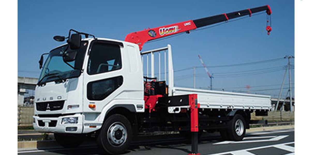 三菱ふそう ファイター(6MT)  4段クレーン付 積載7,700kg(増トン)