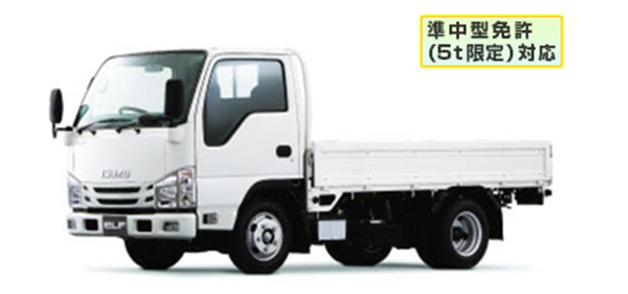 いすゞ エルフ(5MT)平ボディ 標準10尺 積載2,000kg